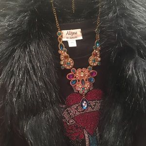 Bebe faux fur coat all lined with fur short warm